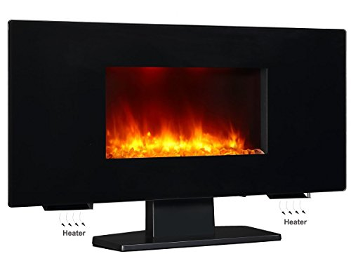 Puraflame 36 Galena Portable Or Wall Mounted Flat Panel Electric Fireplace With Remote 1350w
