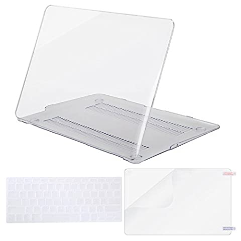 Mosiso Plastic Hard Case with Keyboard Cover with Screen Protector for MacBook Air 11 Inch (Models: A1370 and A1465), Crystal (11 Inch Apple Case)