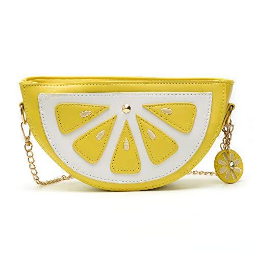 (Women Summer Bag for Beach Travel Mini Cute Phone Lemon Purse Bags)