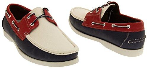 Sintético Shoreside barco zapato Blanco Azul Hombre Marino Cq5qwxzr
