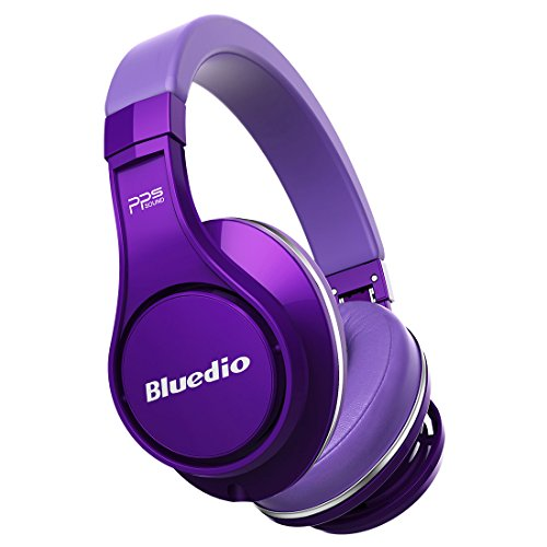 Wireless Bluetooth Headset For Cell Phones (Purple) - 5
