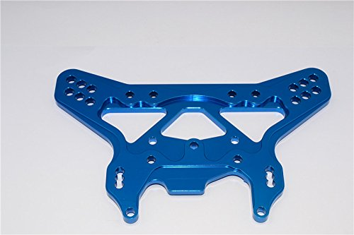 Team Losi 5ive-T Upgrade Parts Aluminum 7075 Rear Shock Tower - 1Pc Blue