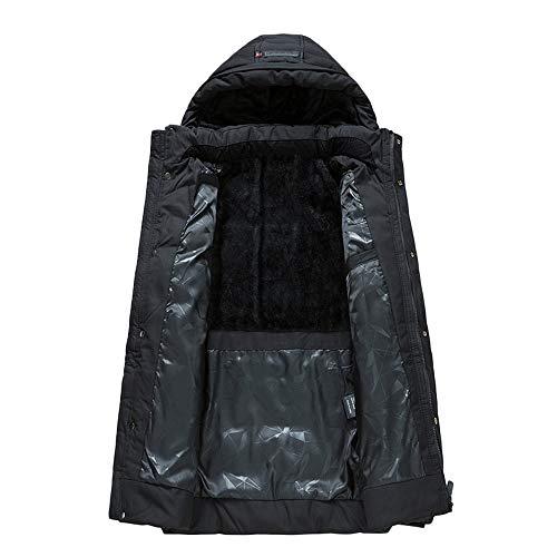 Jacket Soldes Fausse Veste Homme Manteaux Kaki En noir Fourrure Doudoune Hiver Large Casual Hoodie overdose B FFHrqO1wR