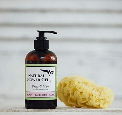 Natural Shower Gel - Honey Lavender Rose, All Natural Body Wash