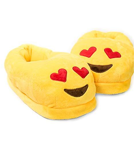 Brand New Emoji Evil Fun Plush Stuffed Adult Kid Home Slipper Slipper Shoes Gift
