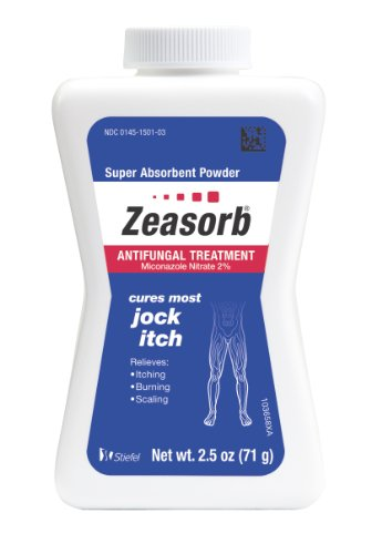 Zeasorb Antifungal Treatment Powder, Jock Itch, 2.5 Ounce (Pack of 2) ()