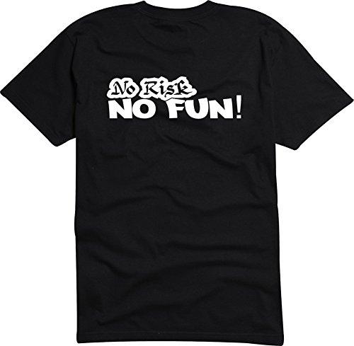 Black Dragon - T-Shirt Man / JDM / Die cut - black - No Risk No Fun Racing Rennsport Auto L - JDM / Die cut ()