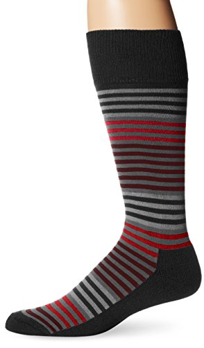 Vince Camuto Men's Even Stripe Ombre 1/2 Cushion Crew Sock