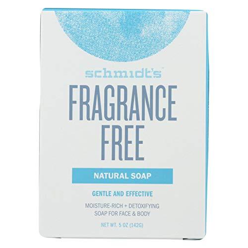Schmidt's Deodorant Bar Soap - Fragrance Free - Case of 6-5 Oz