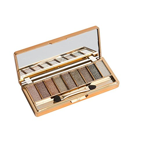 Price comparison product image ChainSee New Design Fashion Women9 Colors Shimmer Eyeshadow Eye Shadow Palette & Makeup Cosmetic Brush Set