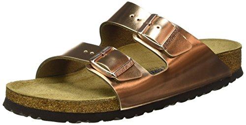 Birkenstock Arizona, Heels Sandals para Mujer Marrón (Metallic Copper)