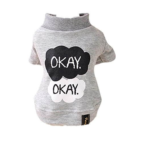 Angelof-Okay-Imprim-Animal-Chien-Chiot-Chaud-Chemise-VTements-Coton-Outwear
