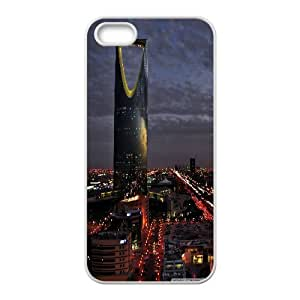 Iphone 5/5S Case city night 5 White tcj521755 tomchasejerry