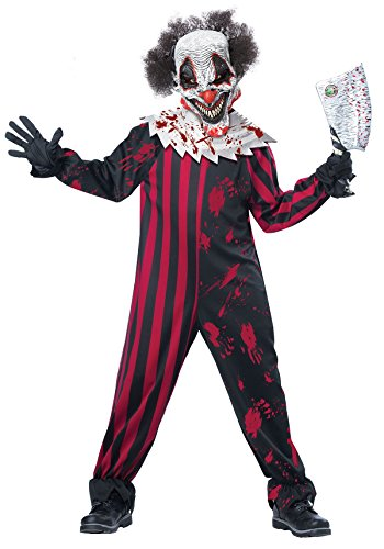 California Costumes Killer Klown Child Costume, (Halloween Costumes Scary Clowns)
