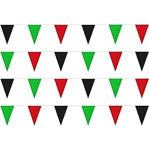 Red/Black/Green String Pennants (50 ft.)