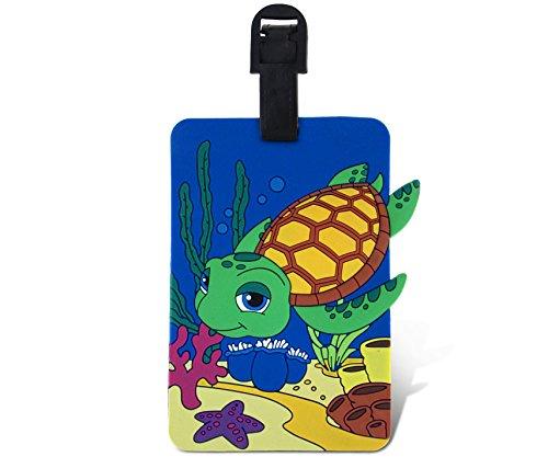 Price comparison product image WGI Fun Luggage Tag - Diving Sea Turtle