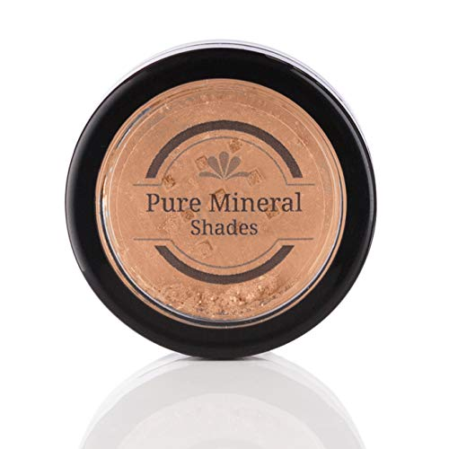 Mineral Highlighter Makeup by NuBeauti – Loose Powder With Free Brush – Adds Natural Facial Contour – Highlighting Illuminator for Face and Body – Professional Sleek Results – Go Bronze 1.5 grams