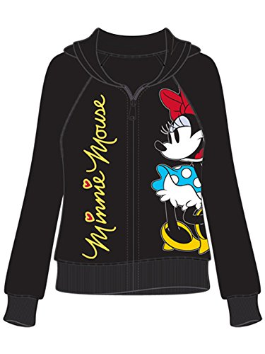 Disney Adult Junior Minnie Mouse Signature Large Zip up Hoodie]()