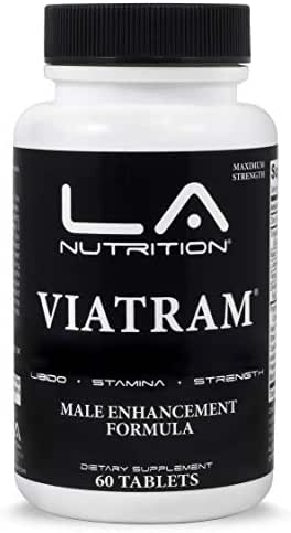 Viatram Male Enhancement All Natural Testosterone Booster Helps Increase Fertility, Sperm Count, Stamina, Size, Energy & More, Volumizer Formula