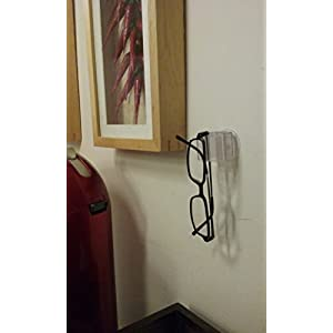 spexGrip by izzi mo eyewear holder (Clear) - stores reading glasses, sunglasses for the home, car, golf cart, RV, boat. Also used as an iPhone stand & grip. Perfect for travel. Great gift.