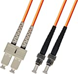 25M Multimode Duplex Fiber Optic Cable (62.5/125) - SC to ST