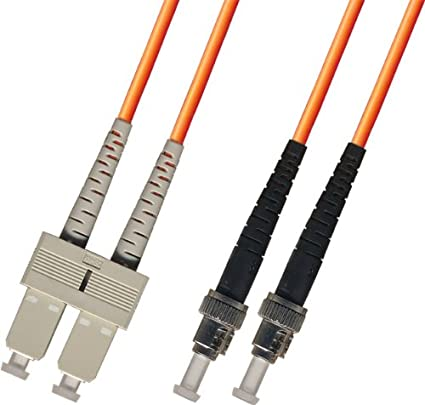 SC to ST Ultra Spec Cables 812472010643 5M Multimode Duplex Fiber Optic Cable 62.5/125