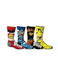 Angry Birds Boys 4-Pack Licensed Crew Socks