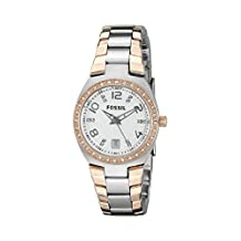 Fossil Women's Colleague ES3621 Silver/Multicolor Stainless-Steel Analog Quartz Watch