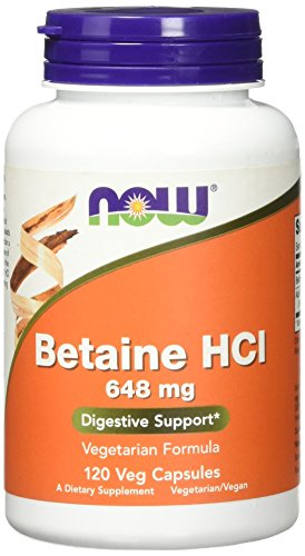 NOW Betaine HCl 648 Capsules product image