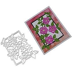 HIKO23 Cutting Dies Stencils Frame Die Cuts Metal Template Mould DIY Scrapbook Card Making Decoration Tool Gift