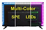 Colored Kitchen Cabinets USB LED Lighting Strip - Medium (78in / 2m) - Multi-Color RGB - USB LED Backlight Strip with Dimmer for Bias Lighting HDTV, Flat Screen TV LCD, Desktop Monitors, Kitchen Cabinets