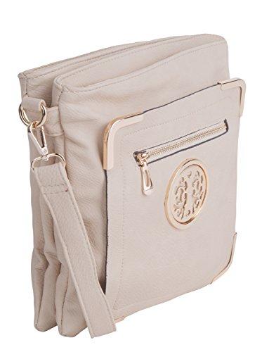 to Courier Bag K Grey Fun Pewter Farrow Mia MKF Crossbody Collection Wear IOfY7wz