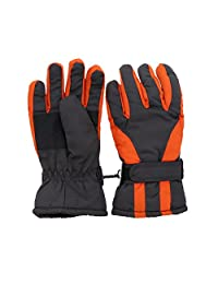 Waterproof Slant Design Ski Gloves for Youth - Grey