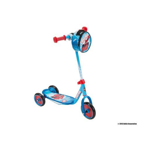 Huffy Boys' Marvel Spider-Man 3-Wheel Scooter With Handlebar Bag - Huffy Scooters For Boys