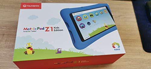 VANKYO MatrixPad Z1 Kids Tablet 7 inch, 32GB ROM, Kidoz Pre Installed, IPS HD Display, WiFi Android Tablet, Kid-Proof, Blue