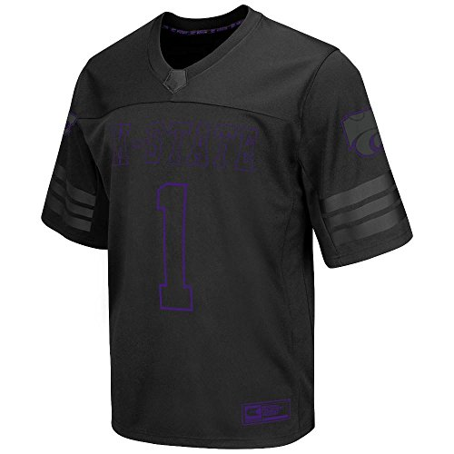 Mens NCAA Kansas State Wildcats Football Jersey (Black) - 2XL