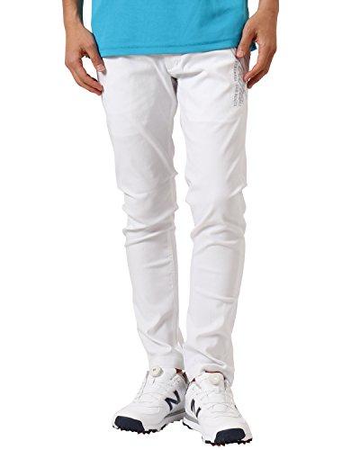 [ガッチャ ゴルフ] GOTCHA GOLF パンツ メンズ ベーシック スーパー ストレッチ ロングパンツ 99GG1800 ホワイト XXLサイズ
