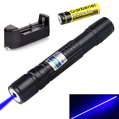 (SALM Tactical Blue Hunting Rifle Scope Sight Laser Pen, Demo Remote Pen Pointer Projector Travel Outdoor Flashlight, LED Interactive Baton Funny Laser Toy)
