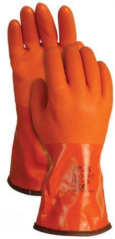 Atlas Men's 460 Orange PVC Insulated Gloves - Orange (Medium) by SHOWA