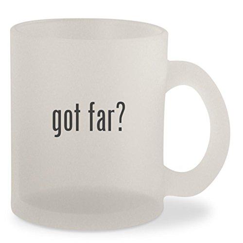 got far? - Frosted 10oz Glass Coffee Cup Mug