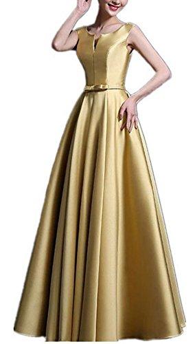 YOGLY Damen Kleid Vintage VAusschnitt Aermellos Elegant Partykleid ...