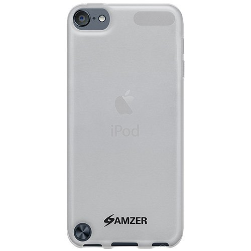 Amzer Soft Gel TPU Gloss Skin Fit Case Cover for Apple iPod Touch 5G (Translucent White)