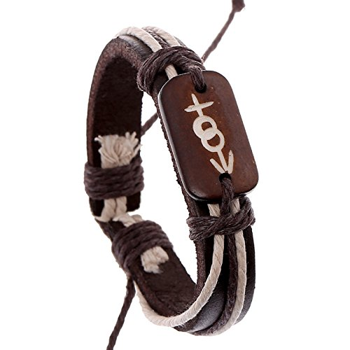 - Hot new bone woven leather bracelet national wind punk audience treasurer recommended gifts