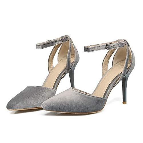 Gray Suede Heels Heel Pink Spring Black Shoes Stiletto ZHZNVX Comfort Black Women's WqZUZXHz