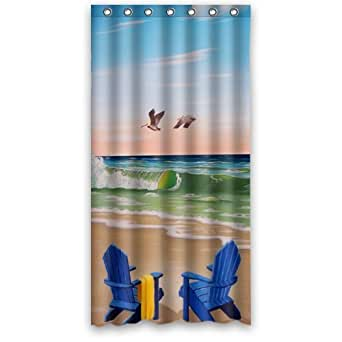 special design beach chairs waterproof bathroom fabric shower curtain bathroom decor. Black Bedroom Furniture Sets. Home Design Ideas