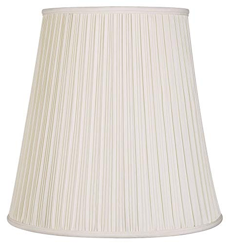 Creme Mushroom Pleat Lamp Shade 12x18x18 (Spider) - Springcrest
