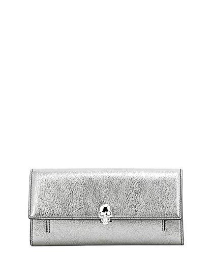 Alexander Mcqueen Women's 554196Css3i1300 Silver Leather Clutch