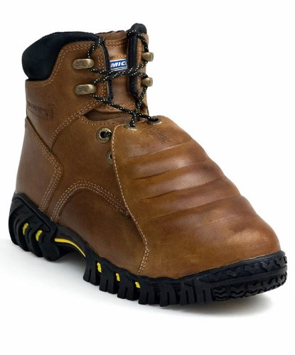 MICHELIN Men's Steel Toe Metatarsal Guard Boots,Brown,12 M