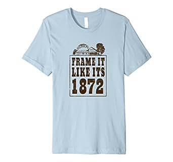 Mens Frame it Like its 1872 Commemorative T-Shirt 2XL Baby Blue
