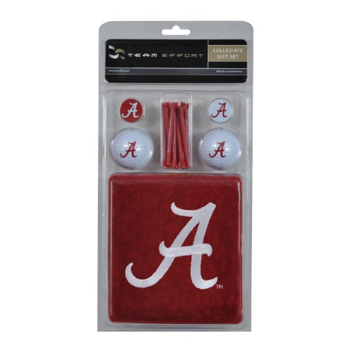 Team Effort Alabama Crimson Tide Gift Set Alabama Crimson Tide Embroidered Golf Ball